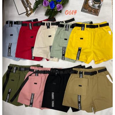 Стильные женские хлопковые шорты (коттон) с ремнем. много цветов. Размеры: 42-44; 44-46; 46-48
