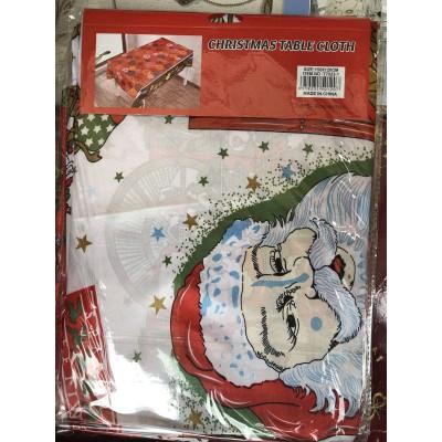 Скатерть новогодняя рождественская 110*150, рисунки в ассортименте