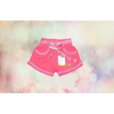 Шорты Розовые для девочки (интерлок) 0490. Размеры 28-34