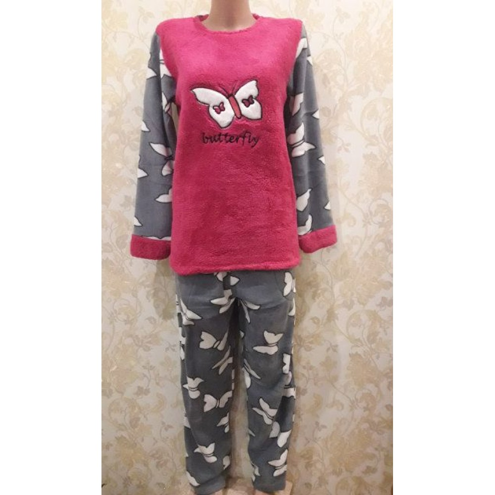 1ca03c8c10699 Купить Теплая женская пижама, Ткань: велсофт (махра), флис. Размер ...