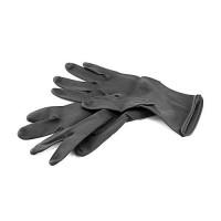 Перчатки резиновые L-M (черный/длинный)