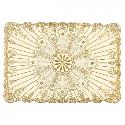 Ажурные виниловые салфетки/подставки прямоугольные 100см х 60см (золото, серебро) в ассортименте