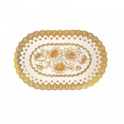 Ажурные виниловые салфетки овал (45х30 см) (золото, серебро) в ассортименте
