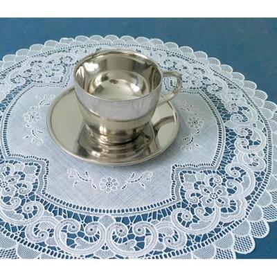 Ажурные виниловые салфетки круглые (40 см х 40см) (золото, серебро) в ассортиментe