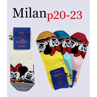 Носки подростковые Milan. Размер 20-22 (9-12 лет)