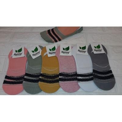 Короткие женские носки с селеконом  (36-41Р) Узбекистан