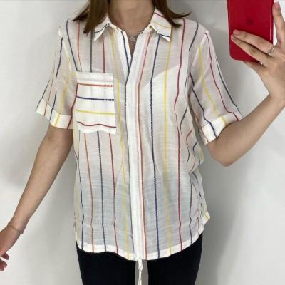Рубашка женская 0870. Размер-46-52. Цвета желтый,белый