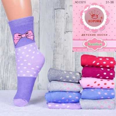 Детские махровые носочки для девочки Корона р.31-36