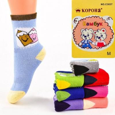 Детские махровые носочки Корона С3037, р. M