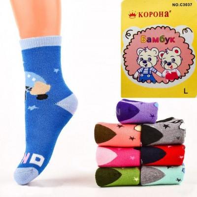 Детские махровые носочки Корона С3037, р. L