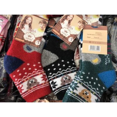 Махровые носки детские с ангорой Корона 3541. Размер 21-26, 31-36
