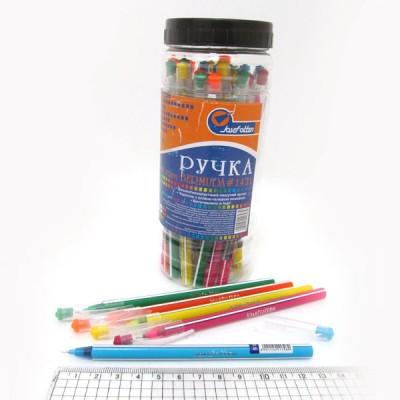 """Ручка масляная JOtten """"Bermuda"""" Индия 0,6мм (банка/30, mix) синяя 1421"""