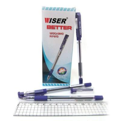 """Ручка масляная Wiser """"Better"""" 0,7мм с грипом синяя"""