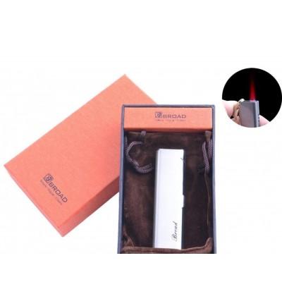 Зажигалка в подарочной упаковке Broad (Турбо пламя) №XT-4679 Silver