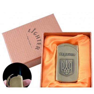 Зажигалка в подарочной упаковке Герб Украины (Острое пламя) №UA-11