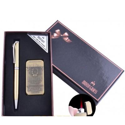 Подарочный набор ручка/зажигалка Jim Beam (Турбо пламя) №RJ-7400B