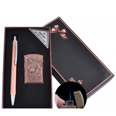 Подарочный набор ручка, зажигалка (Острое пламя) №BX-002C-2