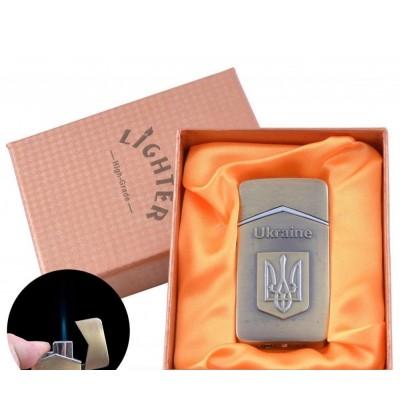 Зажигалка в подарочной упаковке Герб Украины (Острое пламя) №UA-10