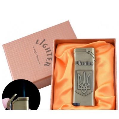Зажигалка в подарочной упаковке Герб Украины (Острое пламя) №UA-12