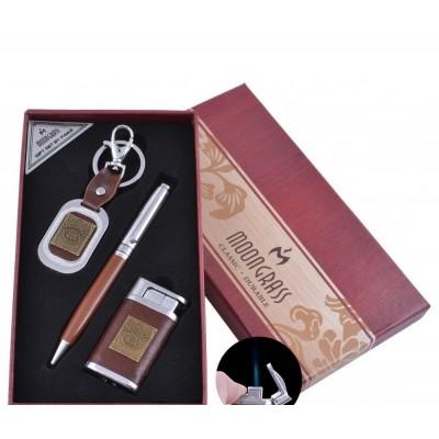 Подарочный набор брелок/ручка/зажигалка Украина (Острое пламя) №ST-5623