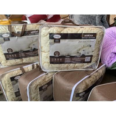 Одеяло Аляска натуральная шерсть. ткань микрофибра, качество люкс, размер 200/220. ЛЕЛЕКА