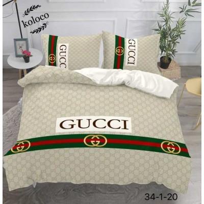 Постельное белье с брендовым логотипом, САТИН 100% Хлопок, Евро размер. Koloco