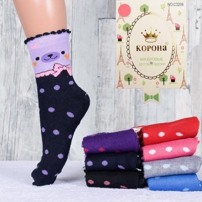 Детские махровые носочки для девочки Корона С3209,  21-26, 26-31, 31-36