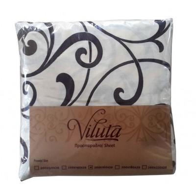 Простынь на резинке Ранфорс 180*200*20 Viluta, расцветки в ассортименте