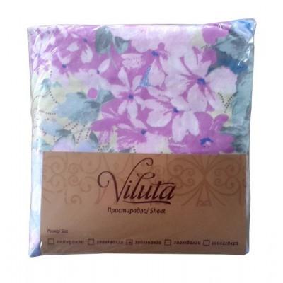 Простынь на резинке Ранфорс 160*200*20 Viluta, расцветки в ассортименте