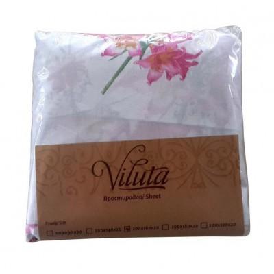 Простынь на резинке Ранфорс 200*220*20 Viluta, расцветки в ассортименте