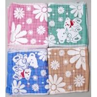 Полотенце «Мишки и ромашки» для кухни (размер 25х50), махра, цвета в ассортименте