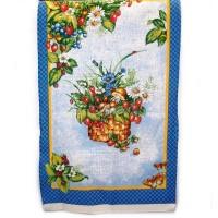 Полотенце, лен, 40х70 см, расцветки в ассортименте