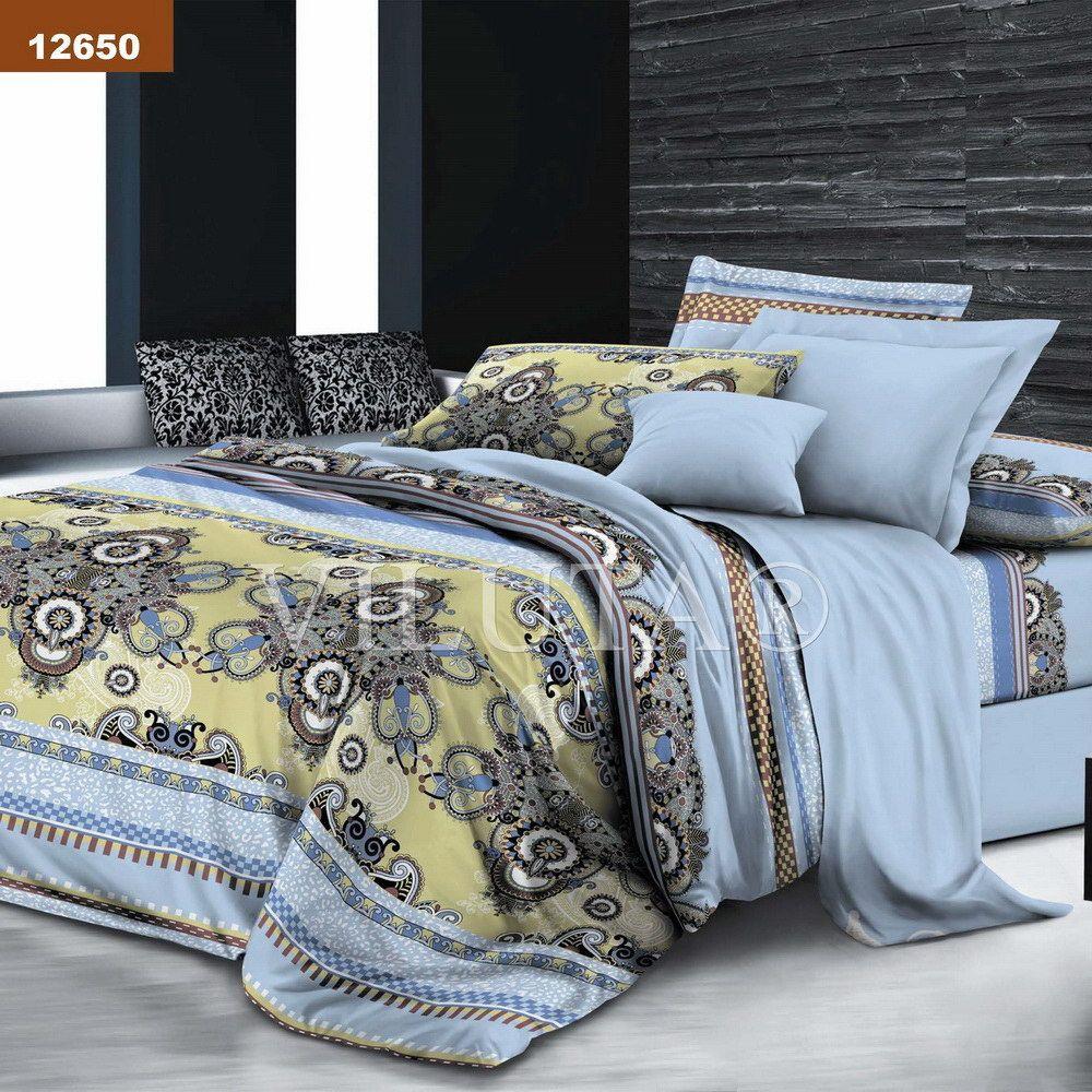 Купить Комплект постельного белья Евро ранфорс-платинум Вилюта 12649 ... 0668ec3a96517