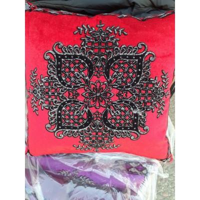 Декоративная подушка велюр с узором, р. 40*40, цвета и рисунки в ассортименте