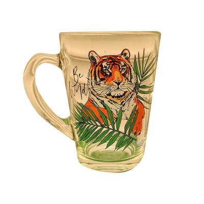 Кружка чай Капучино стекло 320мл Тигр