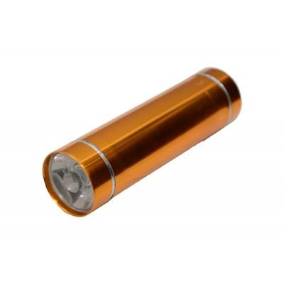 Фонарик карманный (корпус: металл; питание: 3 батарейки ААА; цвет: в ассортименте) Китай