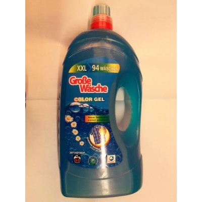 Гелевый порошок для стирки цветного белья GROBE WASHE, 5,65 литра.