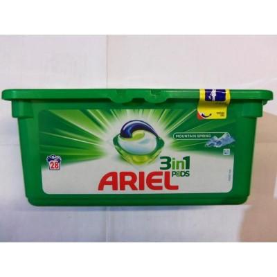 Капсулы для стирки белого белья ARIEL, 28 штук в упаковке