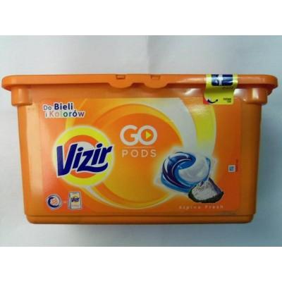 Капсулы для стирки универсальные трехкомпонентные VIZIR, 38 шт.