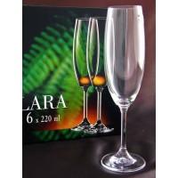 Бокалы для шампанского Bohemia Lara 220 мл 6 шт, 40415/220