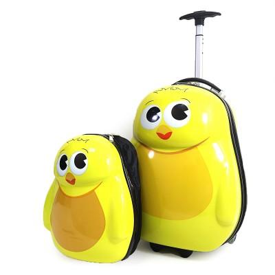 Чемодан детскbq на 2 колесах+рюкзак Цыпленок 16