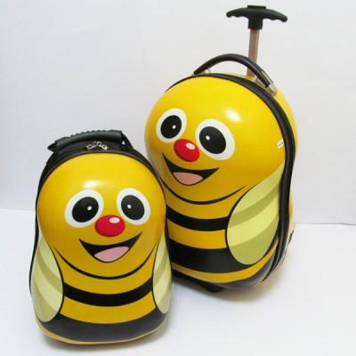 "Набор: чемодан детский на 2 колесах + рюкзак ""Пчелка"" 16"" (1929)"