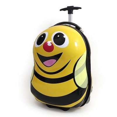 Чемодан детский на 2 колесах Пчелка 16
