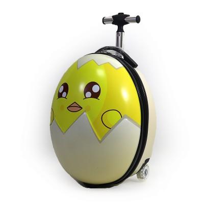 Чемодан детский на 2 колесах Яйцо 16