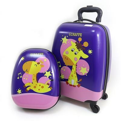 Чемодан детский на 4 колесах 16+рюкзак 13