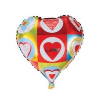 """Фольгированные воздушные шары, форма:сердце, """"""""Love"""""""" 18 дюймов/45 см"""