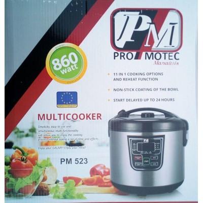 Мультиварка Promotec PM-523 на 5 литров, 11 программ (860W)
