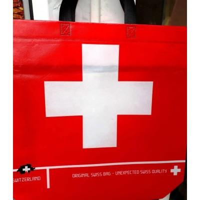 Женская эко сумка ламинат, размер 42x35x12см, расцветки в ассортименте