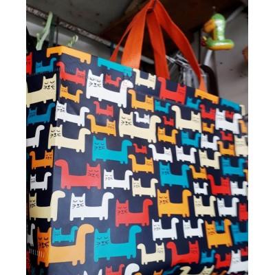 Женская эко сумка ламинат, размер 32x24x10см, расцветки в ассортименте
