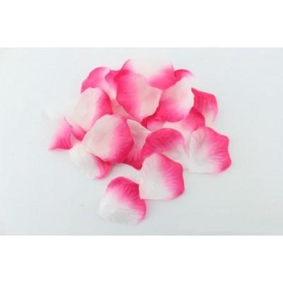 Лепестки роз (уп. 120шт) розово-белые